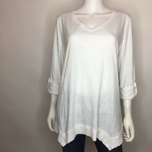 Style&Co. Women's Size L Bright White Blouse